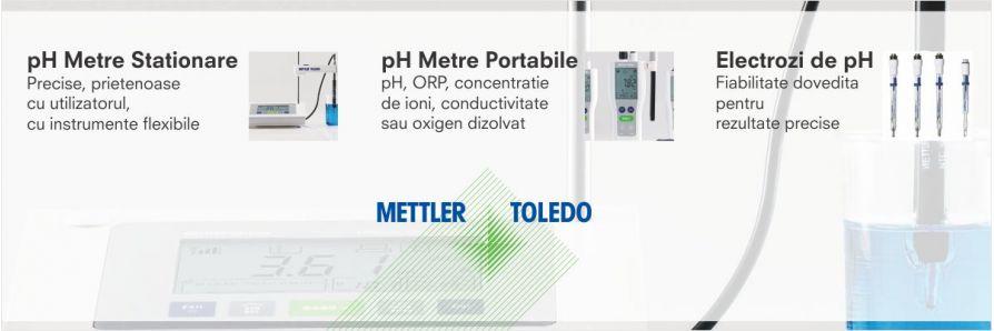 Distribuitor autorizat: pH Metre si Electrozi de pH - Mettler Toledo
